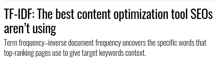 TF-IDF: The best content optimization tool SEOs aren't using