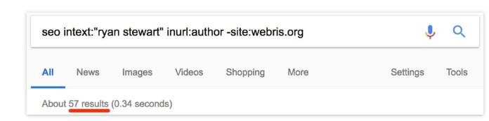 חיפוש של כותב בגוגגל