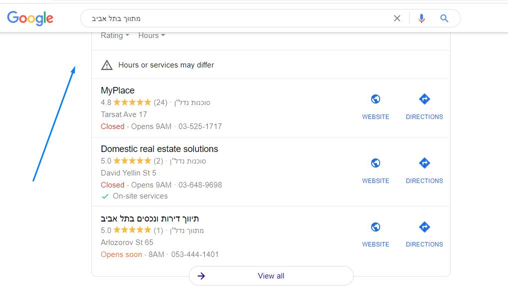 מתווך נדלן בתל אביב תוצאות חיפוש